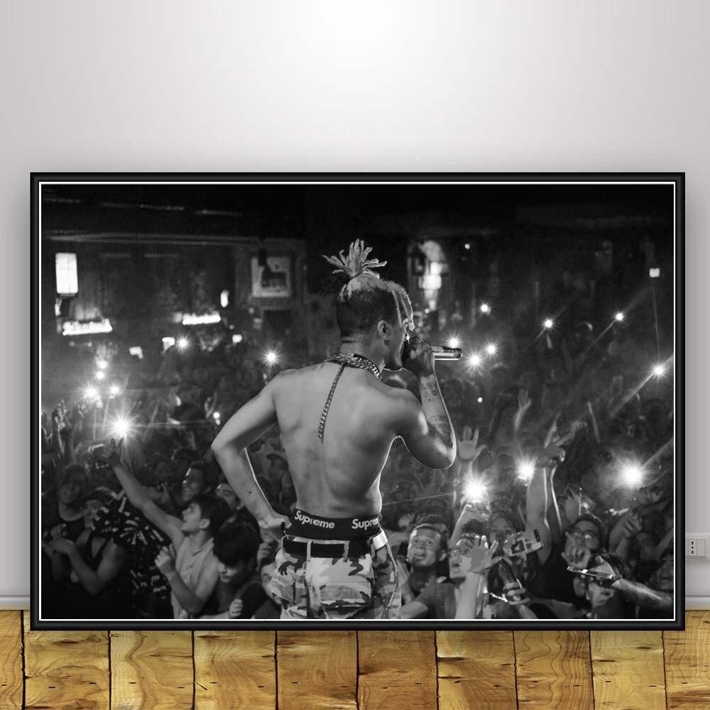 XXXTENTACION HIP HOP MUSIC Art Silk Poster 12x18 24x36 24x43