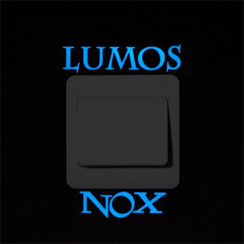 Lumos Nox Glow In The Dark Switch Sticker Star Cat Wall Sticker Blue Luminous Angel Panda Switch Stickers Kid Room Home Decor Wall Stickers