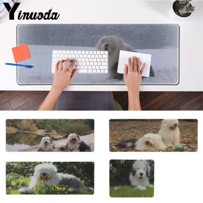 Yinuoda 2018 New Old English Sheepdog Laptop Gaming Mice Mousepad Size for 180*220 200*250 250*290 300*900 and 400*900*2mm