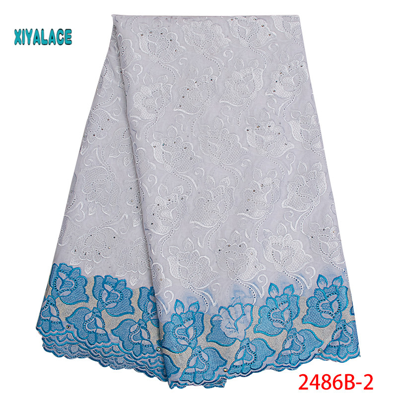 African Lace Fabrics 2019 Nigerian Swiss Voile Lace High Quality French Swiss Voile Lace In Switzerland For Wedding YA2486B-1