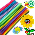 100pcs Bendaroos Montessori Chenille Sticks For Craft Children Kid Pipe Cleaner Stems Craft Creative fun Games Cocktail Bar
