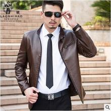 men jacket  spring jacket men  Spring new men's leather leather thin section Commerce leather jacket  Free Shipping