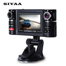 """Carway F30 Carro DVR 2.7 """"TFT LCD HD 1080 P Dual Camera lens Girado de Condução de Veículo Gravador de Vídeo Digital Filmadora de Visão Noturna"""