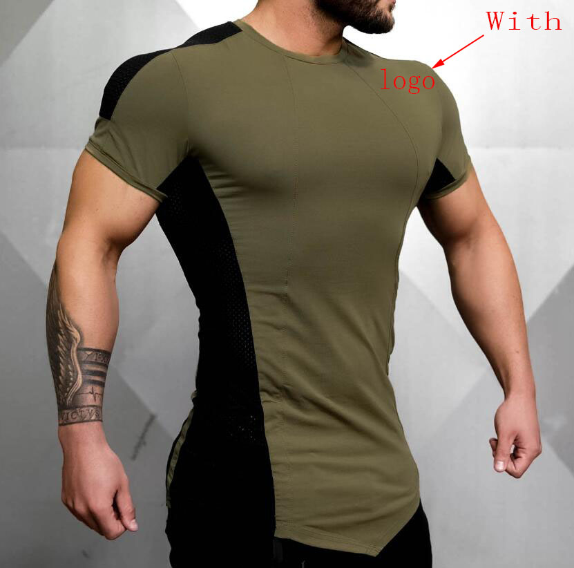Brand Men Cotton T shirts Fashion Casual Gyms Fitness Workout Short Sleeves Tees Summer New Male Tops Clothing