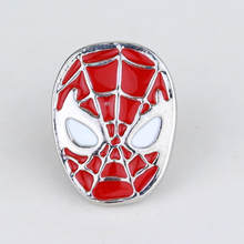 2 Warna Spider-Man Bros Merah Hitam Enamel Spider Superhero Spider Man Masker Bros dan Pin Kemeja Aksesoris(China)