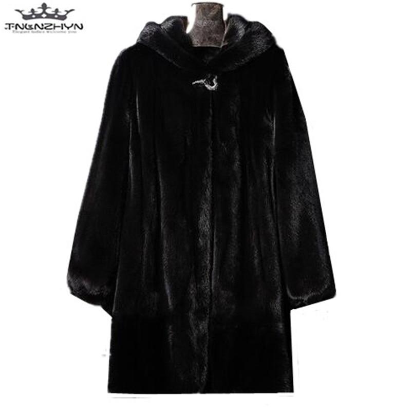 Manteaux Femmes Y520 D'hiver Capuche 5xl Fourrure Mode 2019 Pardessus S Manteau Femme Fausse Long Chaud Black De Moyen Veste En Tnlnzhyn Luxe Nouvelle À qpB6x0