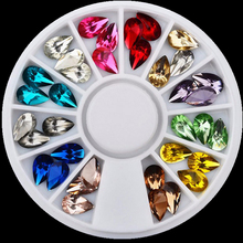 цена на DIY Glitter Nail Art Rhinestones 3d Design Mix Colors Acrylic UV Gel Nail Tips Gems Decoration Nail Accessories