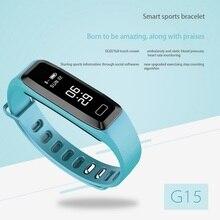Смарт-браслеты G15 часы-пульсометр артериального давления Смарт Браслет Шагомер фитнес SmartBand напоминание