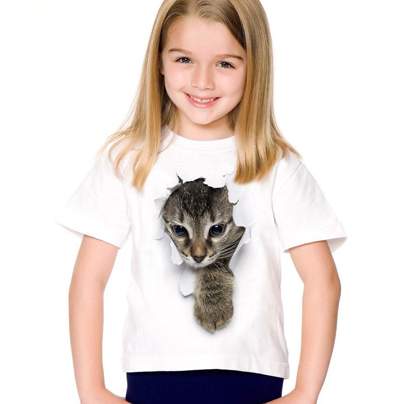 HTB1alPGSFXXXXbKXpXXq6xXFXXXu - 2017 fashion summer cute children brand clothing for kids girl short sleeve print 3d cat t shirts tops baby clothes