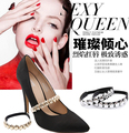 Sexy metallic Lips Charm Shoes Band Shoes Decorations For Women One Pair Free Shipping
