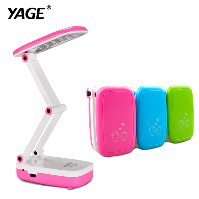 YAGE led desk lamp Mini reading lamp office desk light table lamp led reading table lamp 16 led lights  2-layer Foldable Body