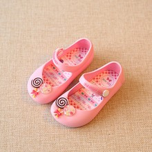 New Mini Sed Summer Jelly Shoes Toddler Girls Cartoon Candy Soft Bottom Fish Head Beach Shoes For Children Lollipop Slippers