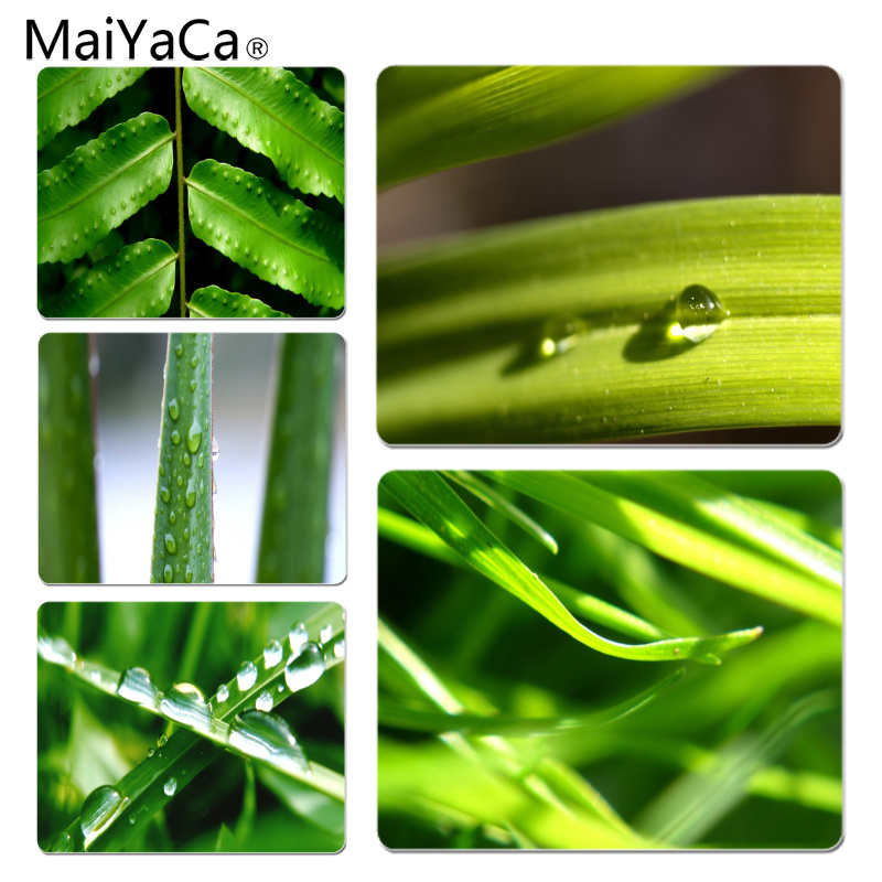 MaiYaCa 2018 New Green leaves Computer Gaming Mousemats Size for 180x220x2mm and 250x290x2mm Small Mousepad