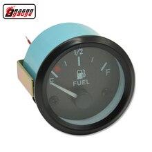 Dragon gauge 2 inch or 52mm car Fuel level Gauge r with Fuel Sensor White LED Ligh Automotive Gauges 12V Meter Free shipping