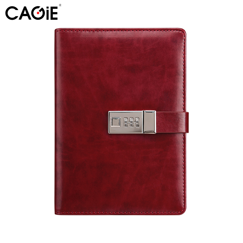 CAGIE Vintage Leather Journals and Notebooks Office&School Planner Agenda Lock Diary 280 Pages Men Business Gifts Personal Diary vintage anime pleanner agenda organizer notebook death note sketchbook journals notebooks diary school office supplies