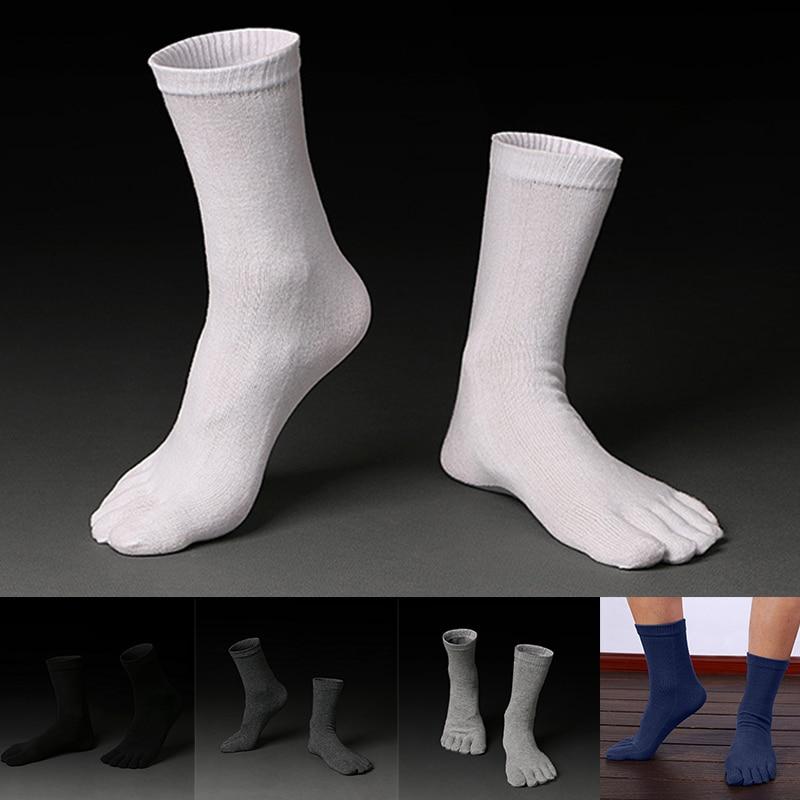1 Pair Summer Breathable Men's Cotton Toe Socks Pure  Five Finger Socks   88 -MX8