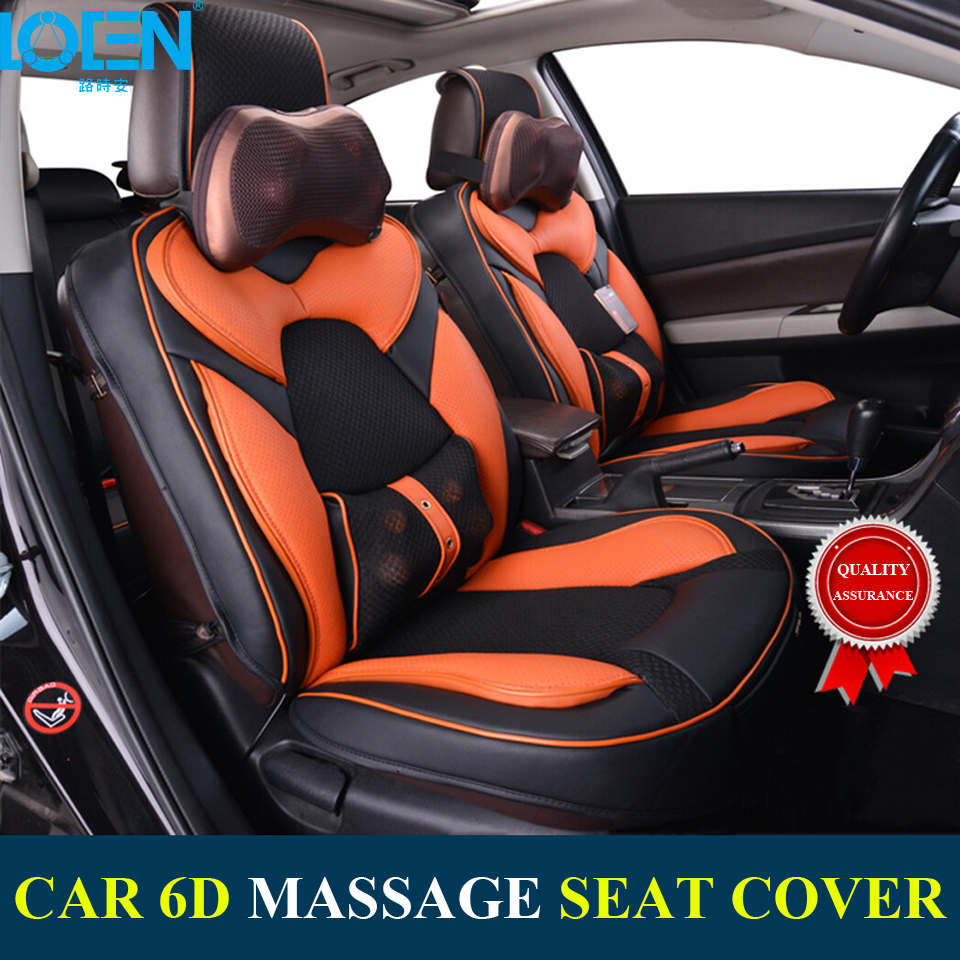 Hot Sale Car 6D Massage Seat Cover Universal Smart Neck And Back Cushion Adapter Headrest