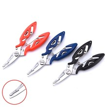 Battlesea FISH 1PCS Stainless Steel Fishing Pliers with package 3 Colors Scissors Line Cutter Remove Hook Tackle Tool