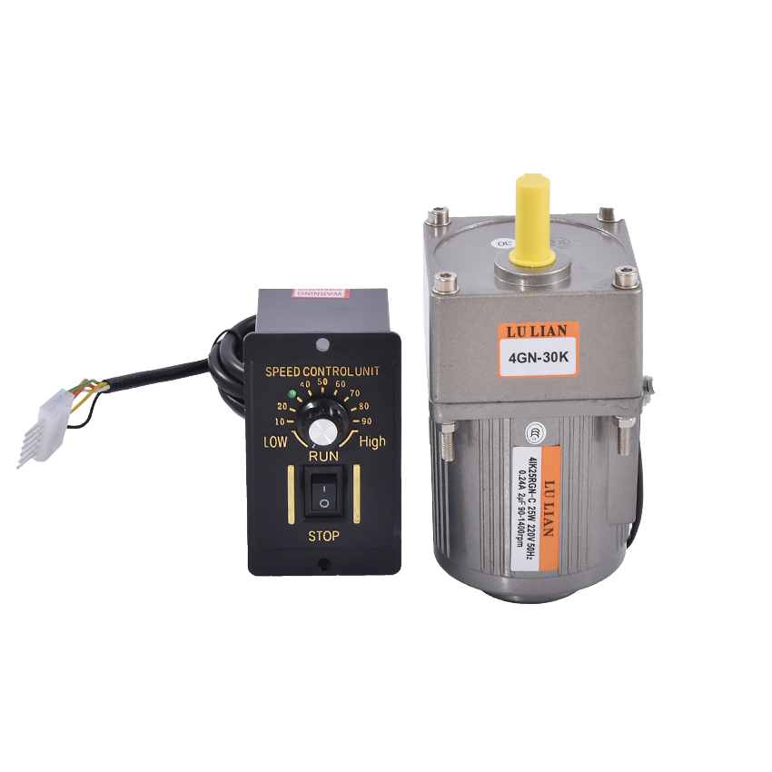 220V/110V 25w Gear Variable AC Speed Motor,Speed Motor Controller,Vertical Single phase Geared AC Motors + Ordinary Governor