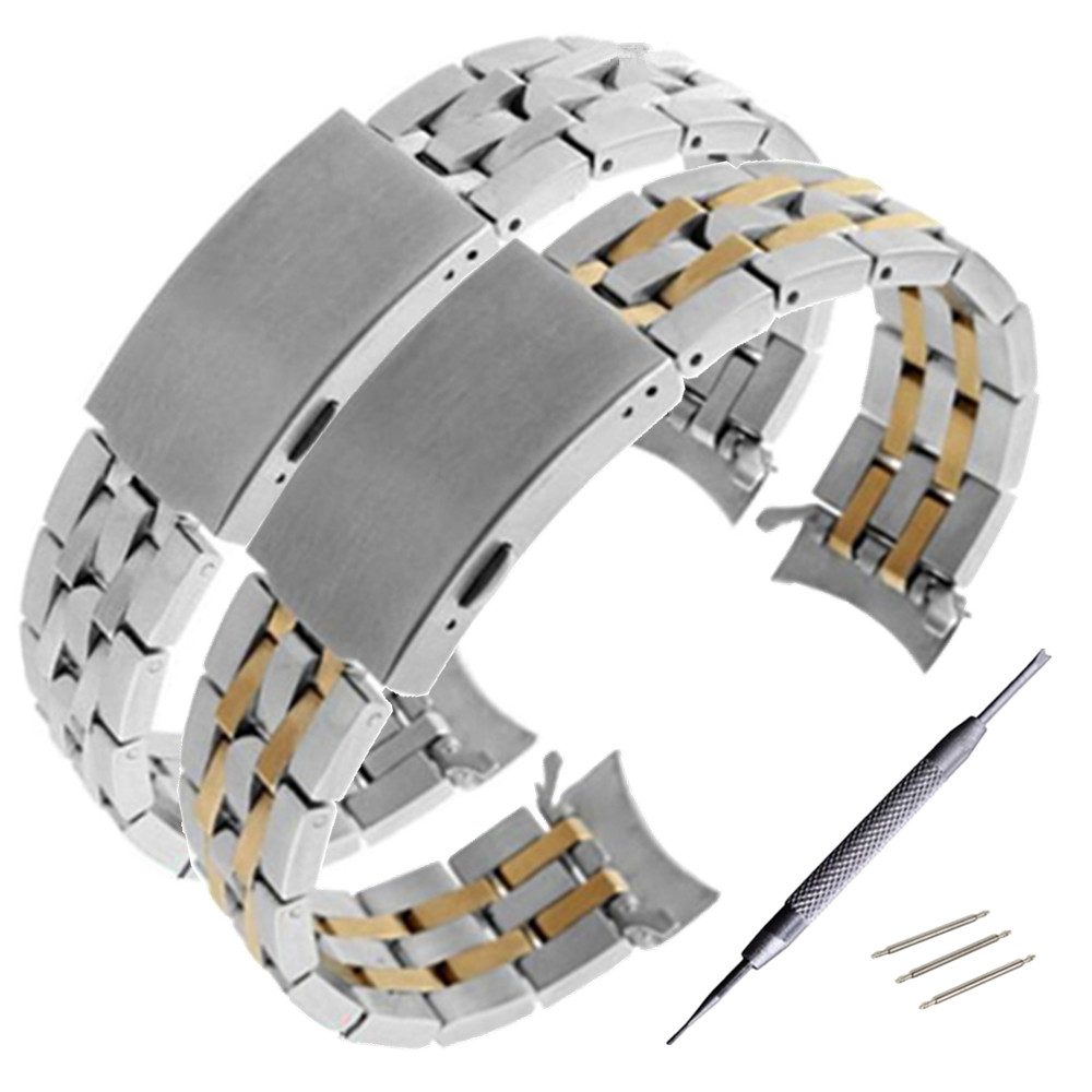 <font><b>19mm</b></font> <font><b>PRC200</b></font> T17 T461 T014430 T014410 Watchband Watch Parts male strip Solid Stainless steel bracelet strap image
