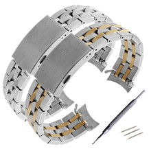 купить 19mm PRC200 T17 T461 T014430 T014410 Watchband Watch Parts male strip Solid Stainless steel bracelet strap по цене 896.25 рублей