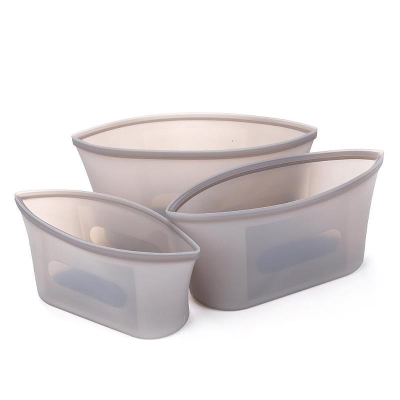 2/3 Pcs Kom Vorm Babyvoeding Melk Fruit Supplement Opslag Siliconen Verse Zakken Set Verzegelde Herbruikbare Voedsel Container Voeden Props 2019 Nieuwe Mode-Stijl Online