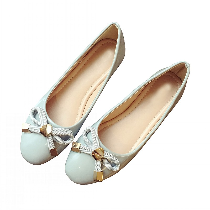 Fashion Bowtie Women's Flats Shoes Spring Autumn Round Toe Slip On Ballet Flats Shoes For Woman Ladies Casual Loafers Gray Black new spring autumn women shoes pointed toe high quality brand fashion ol dress womens flats ladies shoes black blue pink gray