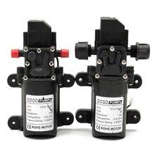 Bomba de diafragma de pressão estável, pequena bomba de diafragma de pressão estável dc12v 70w 130psi 6l/min, 2 estilos