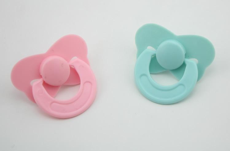 Reborn Newborn Dolls Accessories Dummy Magnetic Pacifier 2 Pcs //Set Pink Blue
