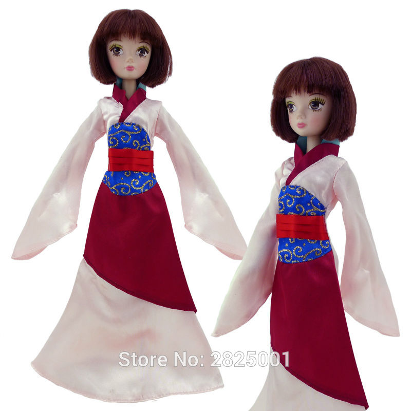Fairy Tale Dress Princess Gown Copy Mulan Ancient Costume Play House Accessories For Kurhn Doll 11