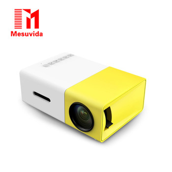 Mesuvida Original YG300 LED Portable Projector 500LM 3.5mm Audio 320x240 Pixel HDMI USB Mini YG-300 Projector Home Media Player