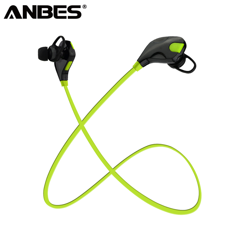 ANBES Sport Bluetooth Earphone Stereo Earbuds Headset Super Bass Earphones Wireless Headphone With Mic For IPhone Samsung LG wireless headphones rose gold bluetooth earphones hifi sport headsets stereo headphone bass earphone with mic for iphone airpods