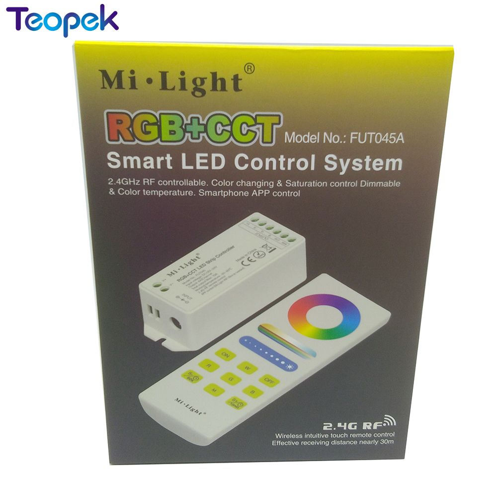Mi.light FUT045 RGB+CCT AUTO-SYNC function LED Controller + FUT088 RGB+CCT Full Touch Remote image