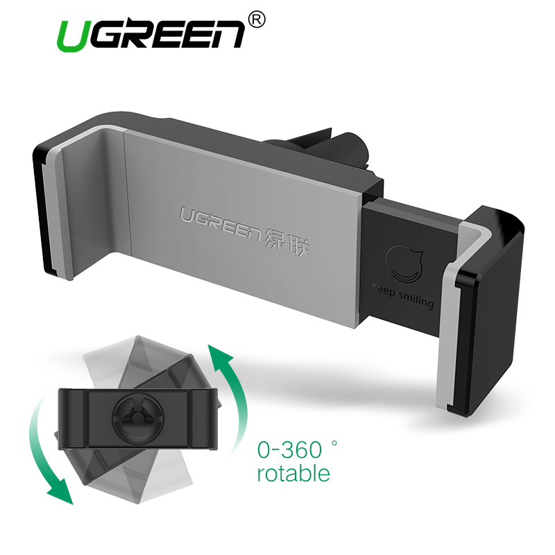 Ugreen Car Phone Holder for iphone 7 Mobile Phone Holder Stand 360 Rotation Air Vent Mount Holder Stand for Samsung Holder Stand