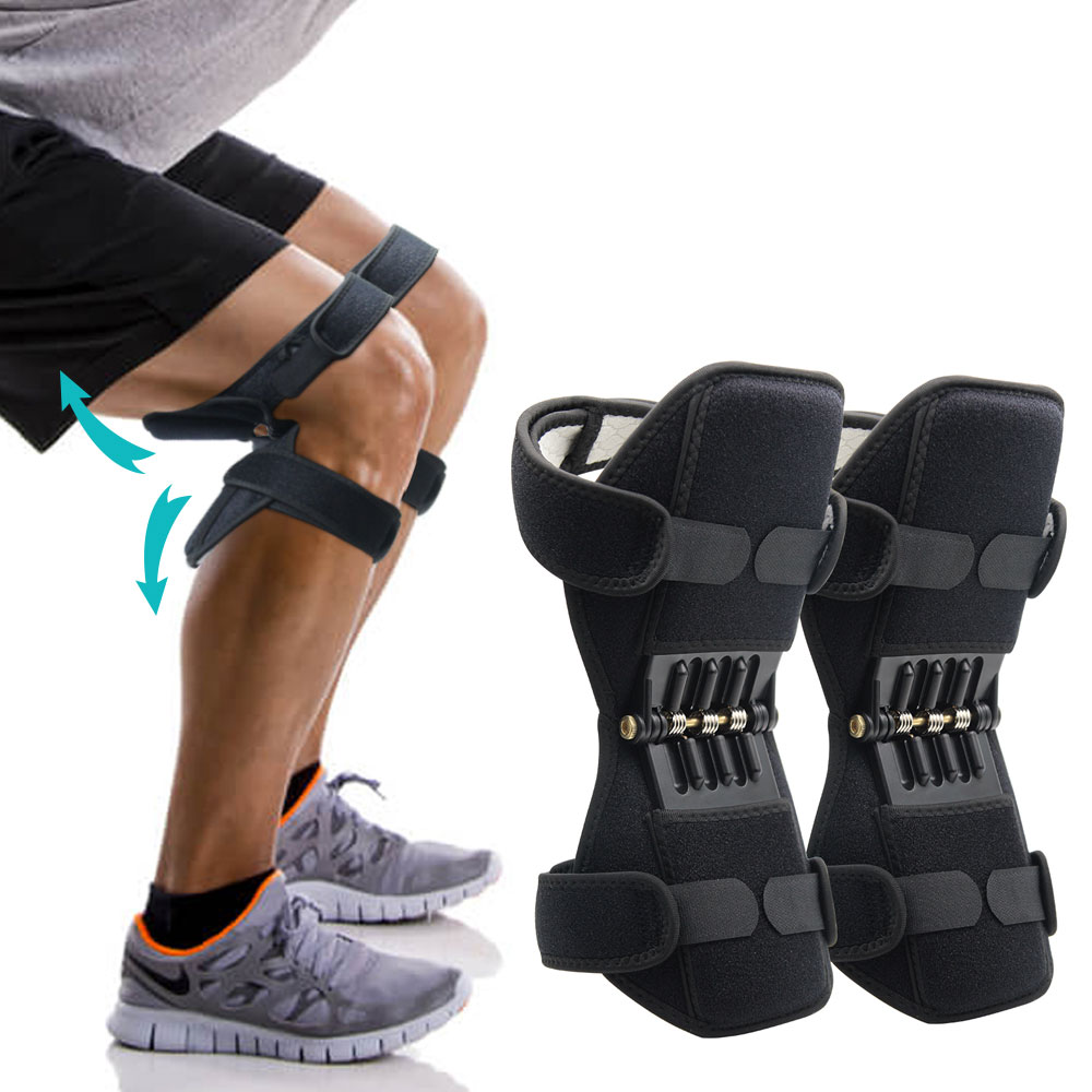 New Joint Support Knee Pads Powerful Rebound Spring Force Adjustable Bi-Directional Straps For Joint Pain Relief