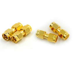 2pcs SMA Male to SMA Male Plug in series RF Coaxial Adapter Connector