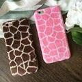 Зимние горячие Мягкие резиновые пушистые жираф pattern теплый телефон case cover Для iPhone 6,6 S, 6 plus, 6 Splus, 7,7 плюс роскошный животных крышку
