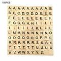 100 шт деревянные плитки черные буквы и цифры для поделок деревянные алфавиты для детей игрушки для младенцев Ранние развивающие головоломк...
