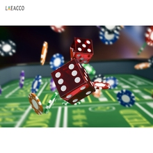 Laeacco Casino LAS VEGAS Dice Chip Coin Nevada Boss Scene Photography Backgrounds Photographic Backdrop Props For Photo Studio