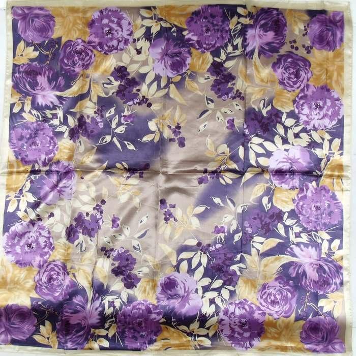 Дизайн женский Шелковый большой квадратный шелковый шарф из полиэстера, 90*90 см горячая Распродажа атласный шарф с принтом для весны, лета, осени, зимы - Цвет: 172 purple