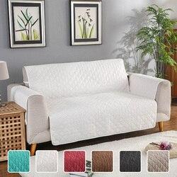 Двусторонний стеганый диван диване охватывает кресло Чехлы для кресел для собак домашних кошек протектор мебели машинная стирка