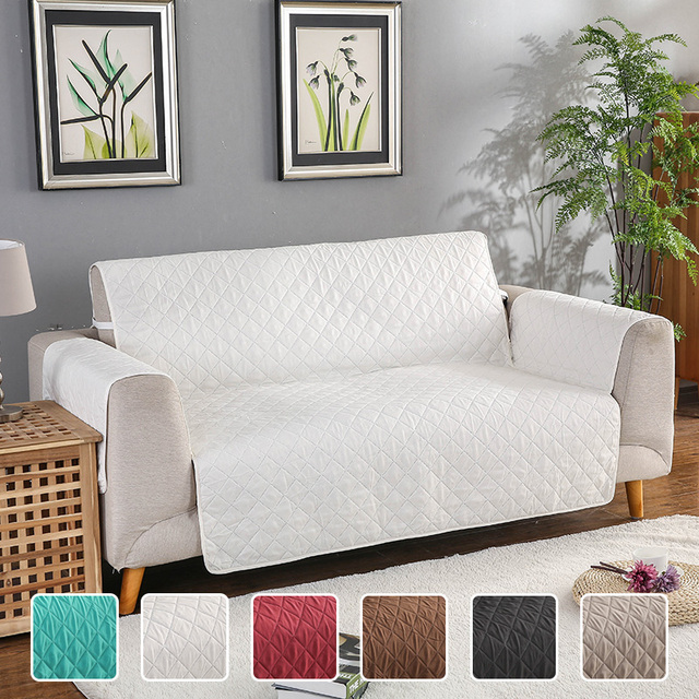 Reversible Quilted Sofa Couch Covers Armchair Recliner Sofa