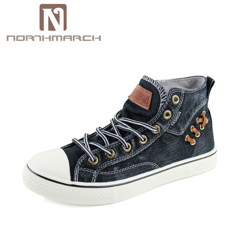 NORTHMARCH New Spring/Autumn Casual Men Shoes High Top Sneakers Men Lace-Up Canvas Shoes Men Zapatillas Hombre Deportiva canvas shoes men breathable lace up flats high top men s casual shoes high quality male canvas shoes trainers zapatillas hombre