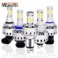 New 2 Pcs 7P Car Led Headlight Bulbs Auto Headlamp Automobiles LED Bulb 80W 8000LM 6500K