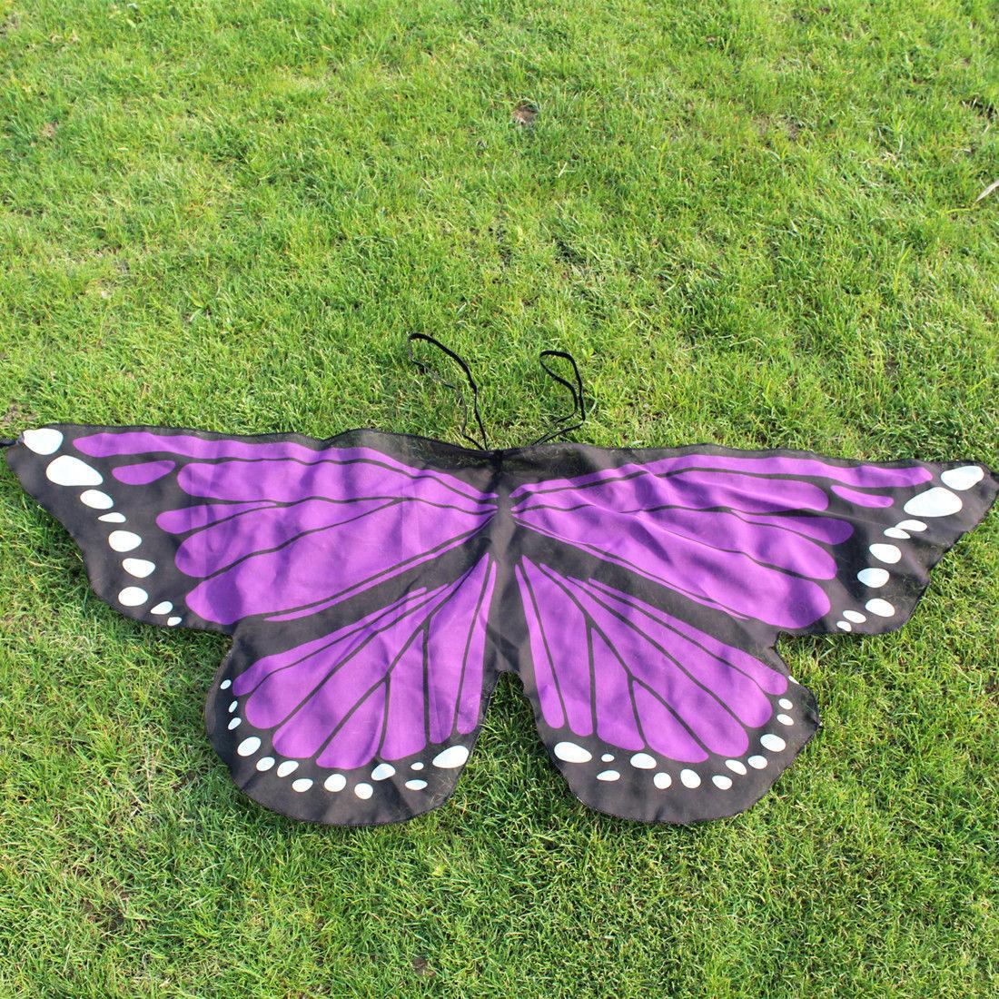 Girls Boys Kids Fairy Wings Butterfly Fancy Dress Up ...