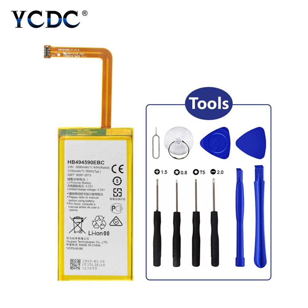 2019 YCDC 100% New Original 3100mAh Battery HB494590EBC For Huawei Honor 7 PLK-L01/UL00/AL10/TL01H + Tools