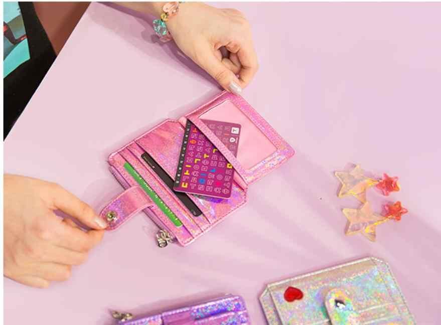 2019 babysbreak Лазерная блестящая сумка для карт для девушек, Сумка Для водительских прав, сердце, засов, ID, кредитный держатель для карт чехол, сумки для визиток