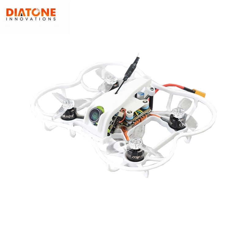 Diatone 2019 GT R239 R90 2 pouce 3 s FPV Racing RC Drone PNP w/F4 OSD 25A RunCam micro Swift TX200U Racer Multirotor Noir Blanc