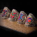 Yunnan original national Ethnic retro old Miaoxiu embroidery bracelet personality Miao silver embroidered wide cuff bangle