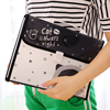 1 Pcs Plastic Lovely Black Cat Document Bag A4 File Folder Expanding Wallet Bill Folder Office
